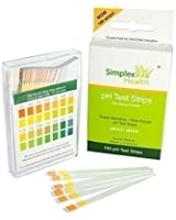pH Test Strips for Urine and Saliva (100 strips) by Simplex Health