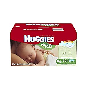 Huggies Natural Care Baby Wipes, Refill, 624 Count (Packaging may vary)