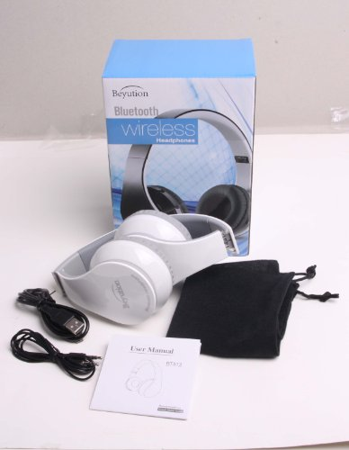 Xmas Gift---New Beyution@Brand White Color Smart Wireless Bluetooth Headphone---For All Tablet Mid, Smart Cell Phone And All Bluetooth Device