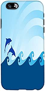 Snoogg Sea Wave And Dolphin On Blue Background Designer Protective Back Case ...