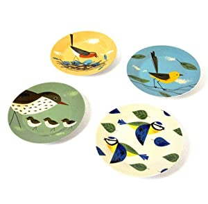 4 x Birdy Plate Sets in a Gift Box
