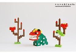 nanoblock年賀状2013用(獅子舞とうぐいす)