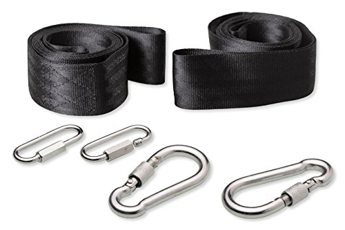 Tree Swing Straps with 2 Durable Snap Hooks and 2 Extra Chain Link Buckles (Set of 2 Belts) (Belt Strapping compare prices)