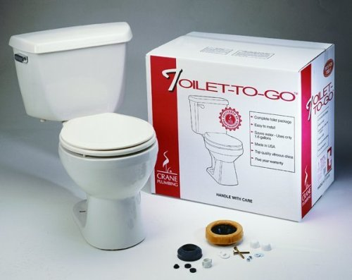 Buy Crane Plumbing Toilet-To-Go Vitreous China Sure Flush Toilet #3923 (Jensen Toilets, Plumbing, Toilets & Bidets, Toilets)