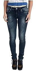 INTEGRITI Women's Slim Fit Jeans (ATTITUDE-LJ-103 EZYFT STNSPRY_32, Grey , 32)