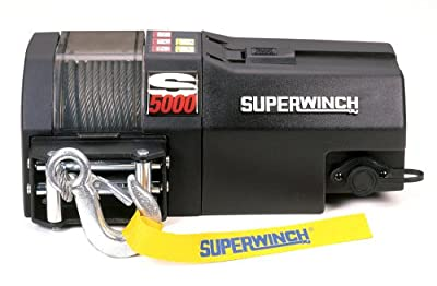 Superwinch 1450200 S5000, 12 VDC winch, 5,000lb/2268 kg single line pull with roller fairlead & 30' remote