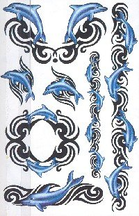 Buy Playful Dancing Dolphin Expressions Body Art Temporary Tattoos
