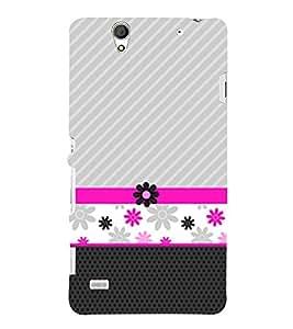 Flower Lines Pattern 3D Hard Polycarbonate Designer Back Case Cover for Sony Xperia C4 Dual E5333 E5343 E5363 :: Sony Xperia C4 E5303 E5306 E5353