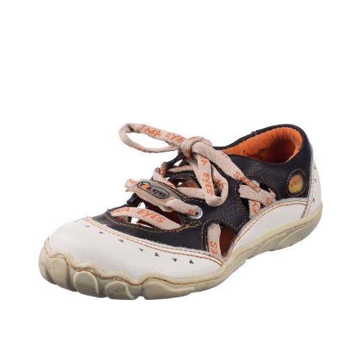 TMA EYES 4509 Sandalette Schnürer Gr.37-42 mit bequemen perforiertem Fußbett , Leder 39.35 super leichter Schuh der neuen Saison. ATMUNGSAKTIV in Schwarz, Rot, Weiß oder Gelb