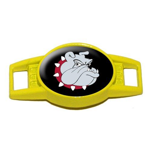 Bulldog Dog - Shoe Sneaker Shoelace Charm Decoration - Yellow