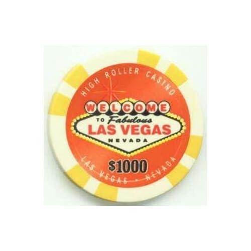 Amazon.com : Las Vegas High Roller Casino VIP $1000 Poker Chips, Set