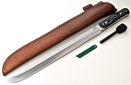 "CFK Cutlery Company IPAK Survival USA 17"" BUSH-WACKER Machete Custom Handmade D2 Tool Steel Micarta Large Hunting Bowie Knife Leather"