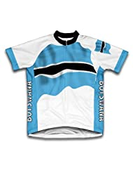 Botswana Flag Short Sleeve Cycling Jersey for Women