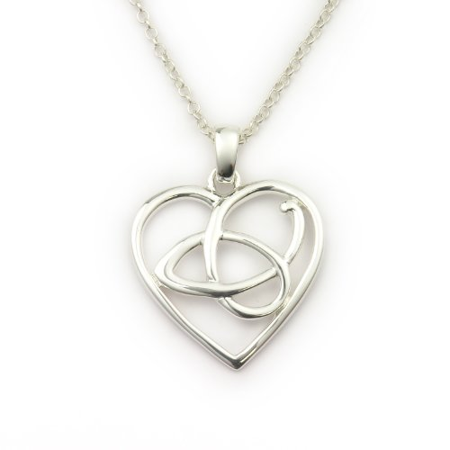 Ortak Burns Collection P789 Heart Pendant with 46cm Chain