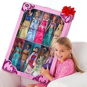 "Amazon.com: Disney Store Disney Princess 12"" Doll Collection Holiday"