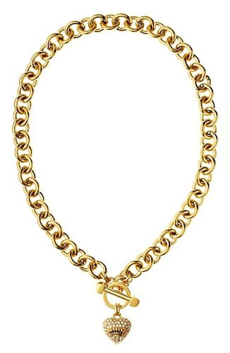 Juicy Couture Jewelry Pave Heart Charm Luxe Gold Necklace New 2013