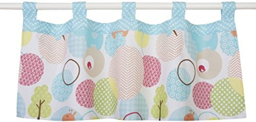 "Sumersault Sweet Petite Animals Valance - Nursery Decor Products - Colorful Featuring a Cute Animal Theme - polyester/cotton - Measures 44x18"" - Imported - 1"
