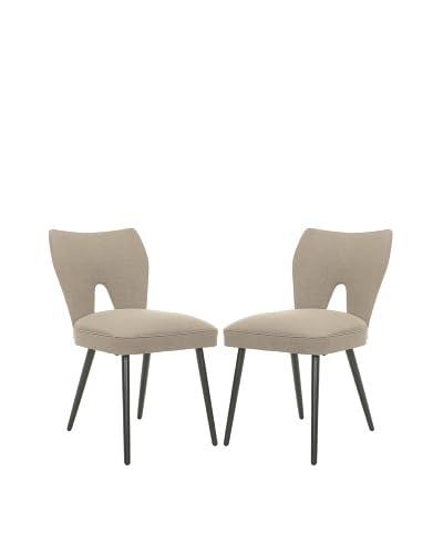 Safavieh Mercer Collection Rebecca Retro Velvet Blend Side Chairs, Set of 2