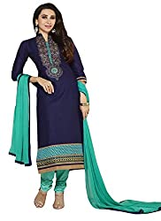 Adorn Mania Darsk blue and Sky Blue Embroidered Dress Material