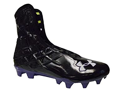 Under Armour Team Highlight Speed MC Mens Football Lacrosse Cleats (Black Purple) by Under Armour