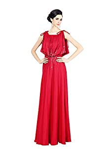 Cocktail Floor Length Satin Evening Dress/Homecoming Dress/Prom Dress/Quinceanera Dress/Wedding Party Dress  With a Bow(s)