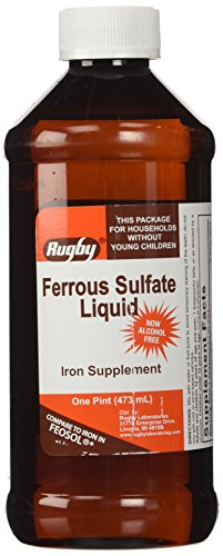 RUGBY LABORATORIES Ferrous Sulfate Elixir Iron Supplements