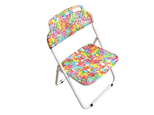 """Amaze"" Folding Baby kids children printed portable outdoor study dining furniture play group Chair (W/o Arm Rest)-Baloons"