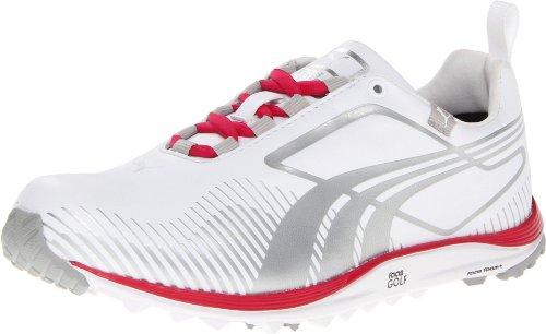 Puma Golf Footwear Womens Faas Lite Shoe,White/Puma Silver,6
