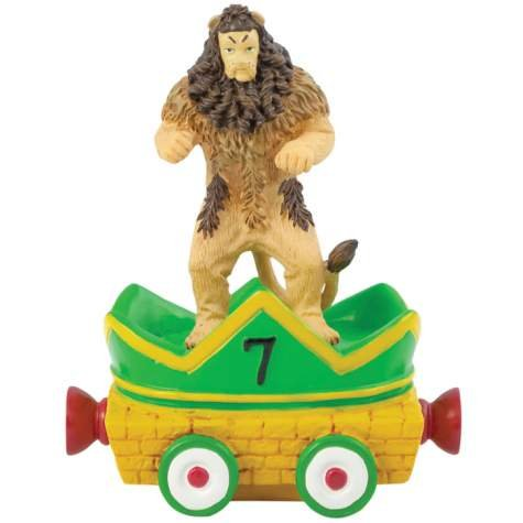 3.75 Inch Cowardly Lion and the Yellow Brick Road Birthday Figurine