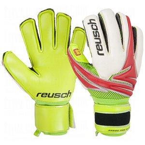 Reusch Argos Pro SG Ortho Tec Goalie Glove Junior, Fire Red/Lime Palm, 5
