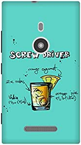 The Racoon Grip Turquoise Screwdriver hard plastic printed back case / cover for Nokia Lumia 925