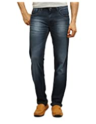 POLICE Men's Flat Front Jeans