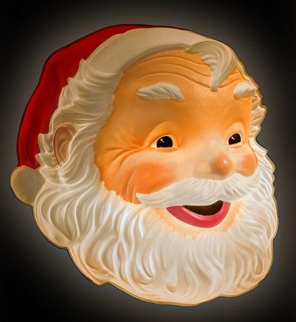 Lighted Light up Santa Face 24×25″