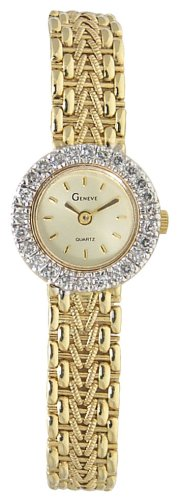 Geneve 14k Solid Gold Diamond Women's Watch - W21050