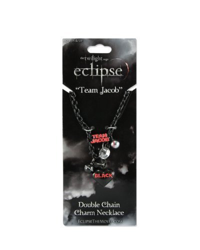"Twilight ""Eclipse"" Double Chain Charm Necklace (Team Jacob) by NECA"