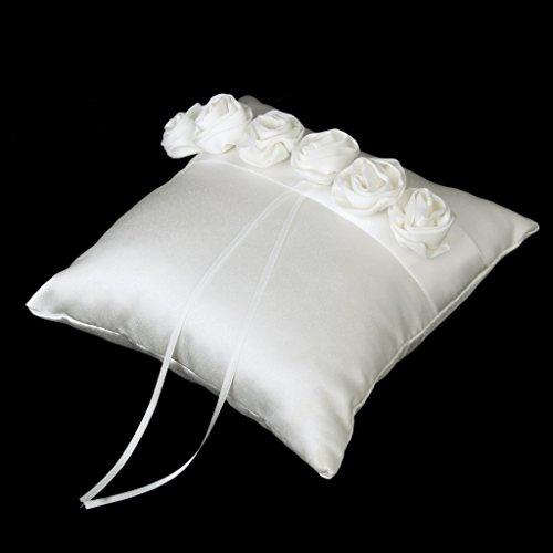 Accessoires de Mariage Livre d'Or Stylo Oreiller d'anneau Panier de Fleur - d'Ivoire