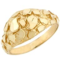14k Solid Yellow Gold Nugget Diamond…