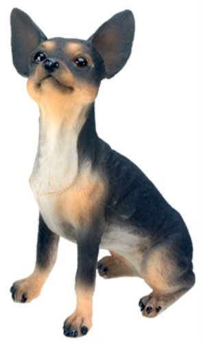 Chihuahua (Black) Dog - Collectible Statue Figurine Figure Sculpture