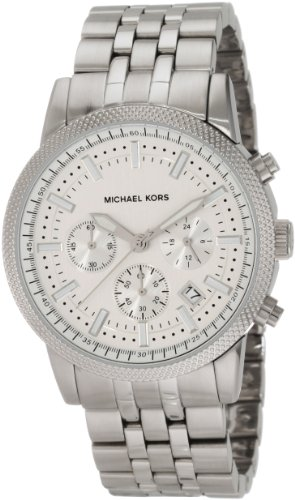 Michael Kors Mk8072 Men's Chronograph Silver Dial Stainless Steel Bracelet Watch