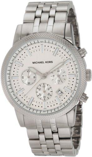 Michael Kors Mk8072 Men's Chronograph Silver Dial Stainless Steel Bracelet Watch