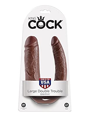 King Cock Large PD551529 U-Shaped Double Trouble Dildo