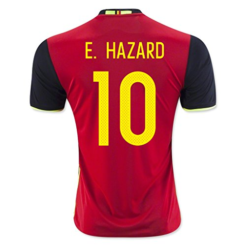 Red #10 E. Hazard Home Match Football Soccer Adult Jersey EURO 2016 (Red Devil Clothing compare prices)