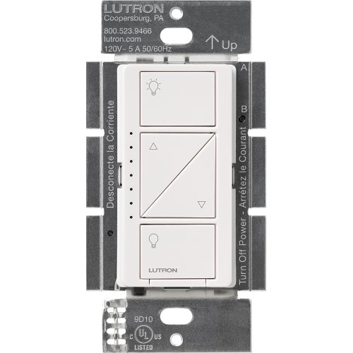 Lutron Pd-6Wcl-Wh Caseta Wireless 600-Watt Single Pole In-Wall Dimmer, White