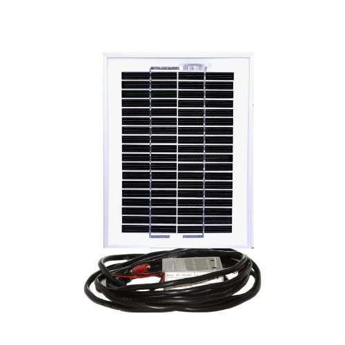 Instapark® 5W Mono-crystalline Solar Panel with 12V Solar Charge Controller