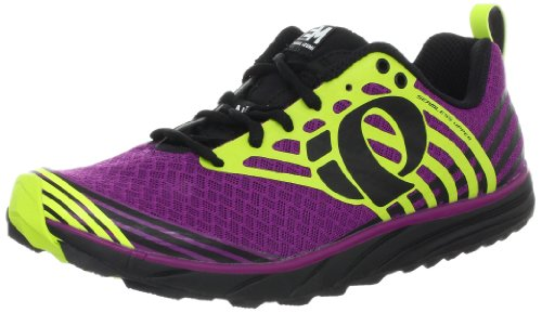 Pearl iZUMi Women's W EM Trail N 1 Running Shoe,Black/Orchid,12 M US