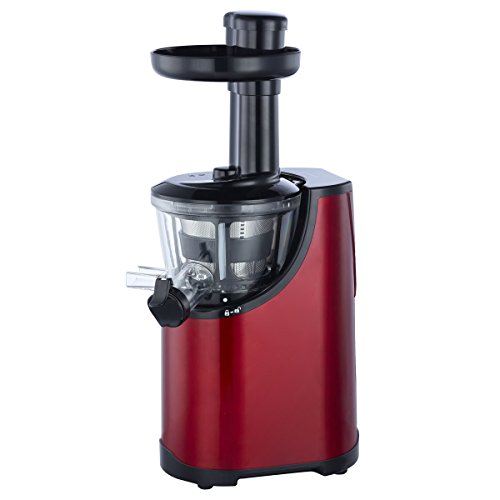 O-Breko Heavy Duty Dual-Stage Vertical Single Auger Low Speed Juicer (Red)