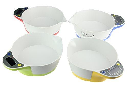 ARETOP® Balance Culinaire électronique avec Fonction Tare Capacité 5kg (Rouge)