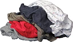 Buffalo Industries Inc Recycled Colored Cloth Rags, 25 lb. Box 10084