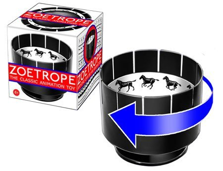 Zoetrope Animation Toy: Classic Victorian Motion Illusion Toy Replica - 1