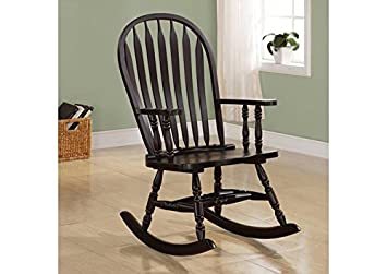 CAPPUCCINO ARROW WINDSOR BACK ROCKING CHAIR (SIZE: 25L X 33W X 42H)
